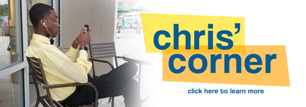 Chris' Corner Image Link, this links to the Chris' Corner Page